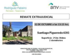 Santiago Figueredo 4393, Montevideo Uruguay. Remate Extrajudicial ANV