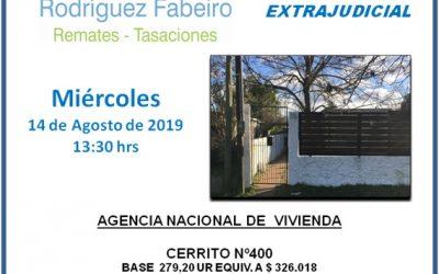 Remate extrajudicial ANV, Profesor Clemente Ruggia Nº 3706, Apto 01, MAROÑAS